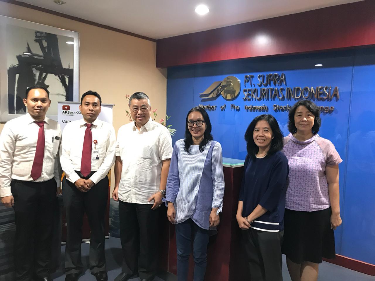 Kunjungan ke PT Supra Sekuritas Indonesia dalam Rangka Sosialisasi Dana Perlindungan Pemodal