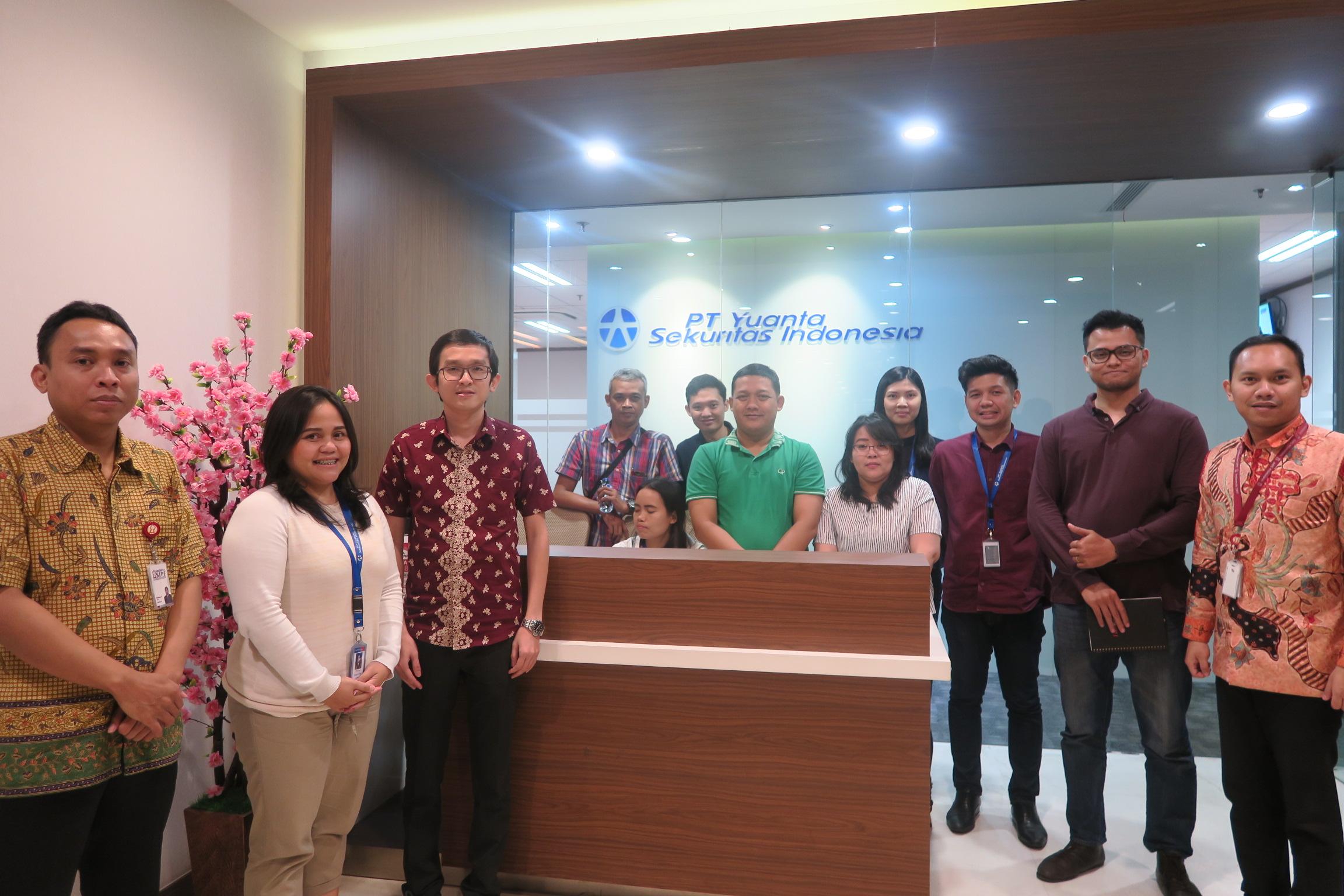 Kunjungan ke Yuanta Sekuritas Indonesia dalam Rangka Sosialisasi Dana Perlindungan Pemodal